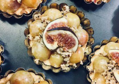 Mirabelles en tartelette crumble quinoa avoine